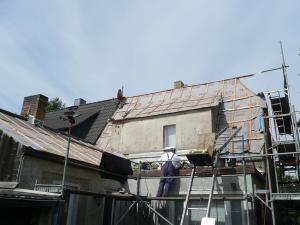 Sanierung Dach mit Gaube vorher